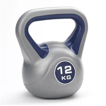 York Fitness Vinyl Kettlebell 12KG - Grey
