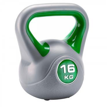 York Fitness Vinyl Kettlebell 16KG - Grey