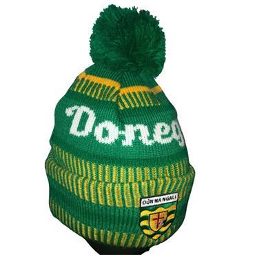 Official Donegal Merchandise Kids Donegal GAA Bobble Hat 2020 - Green