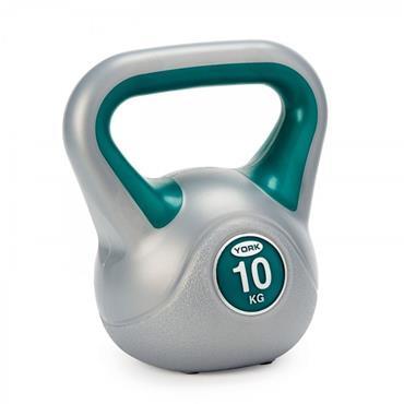 York Fitness Vinyl Kettlebell 10KG - Grey
