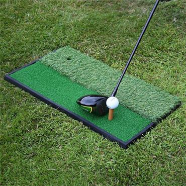 Precision Launch Pad 2 in 1 Golf Practice Mat - Green