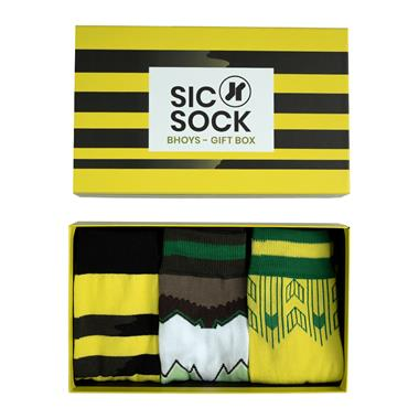 SIC SOCK BHOYS FAN CELTIC MENS SOCKS GIFT BOX (UK 7-11) - Multi
