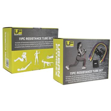 Urban Fitness 11 Piece Resistance Tube Set - N/A