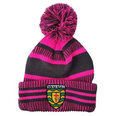 Donegal GAA Womens Bobble Hat - Pink Mulit