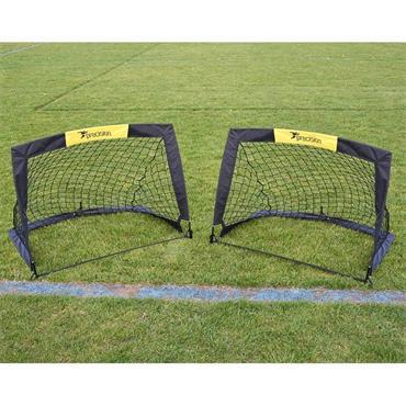 Precision Fold a Goal Set of 2 2.4' x 3.5' - BLACK