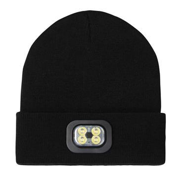 Precision Led Lighted Beanie Hat - BLACK