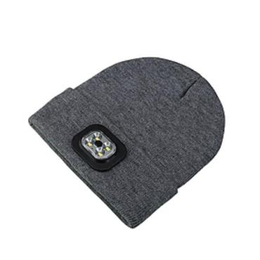 Precision Led Lighted Beanie Hat - Grey