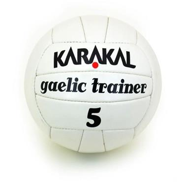 Karakal Gaelic Trainer Football Size 5 - White