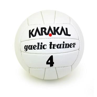 Karakal Gaelic Trainer Football Size 4 - White
