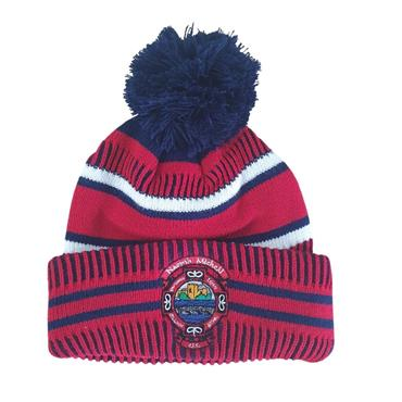 St Michaels Adults Bobble Hat - Navy/Red/White