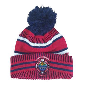 St Michaels Kids Bobble Hat - Navy/Red/White