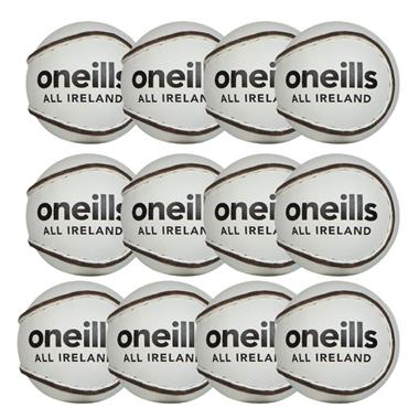 O'Neills All Ireland Hurling Sliotar Size 4 (Pack of 12) - White