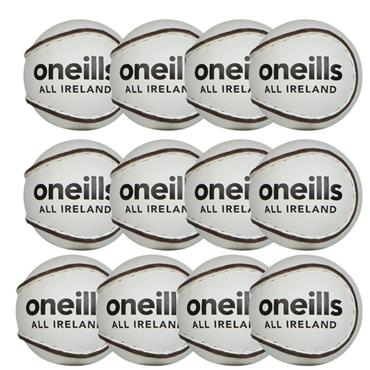 O'Neills All Ireland Hurling Sliotar Size 5 (Pack of 12) - White