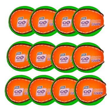 O'Neills Quick Touch Sliotar Pack of 12 - Orange/Green