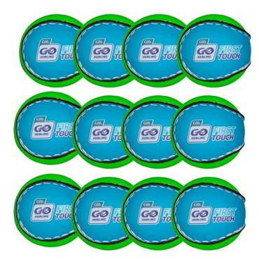 O'Neills First Touch Sliotar Pack of 12 - Blue/Green