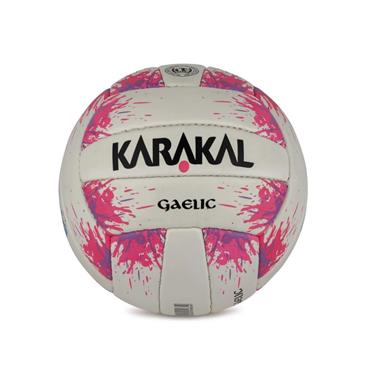 KARAKAL PINK SPLASH FIRST TOUCH FOOTBALL - White