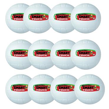 Lee Sport Go Games Smart Touch Football Pack of 12 - White