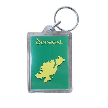 Donegal County Keyring - WHITE