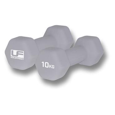 Urban Fitness 10KG Dumbbells - Silver