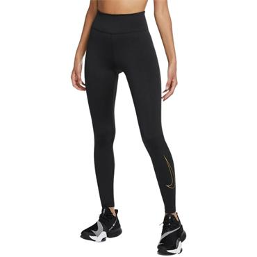 Nike Mid Rise Tight Fit Leggings - BLACK