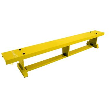 Sure Shot Lite Wood Coloured Bench 2M (6FT 7IN) - Yellow