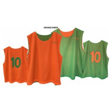 Junior Lee Sports Numbered Reversible Bibs, 1-20 - Green/Orange