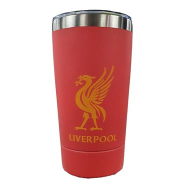 Liverpool Stainless Steel Travel Mug - Red
