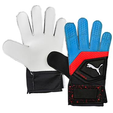PUMA One Grip 4 Football Gloves - Black/Blue