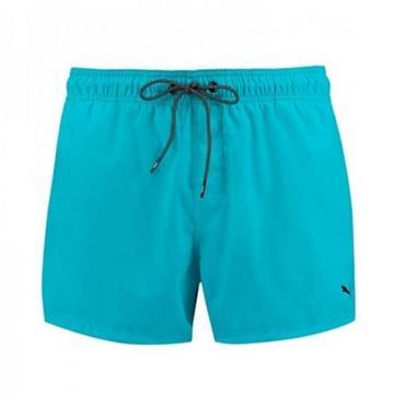 Puma Mens Short Length Swim Shorts - Aqua