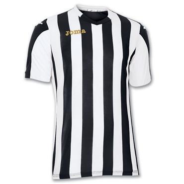 Joma Adults SS Copa T-Shirt - Black/White