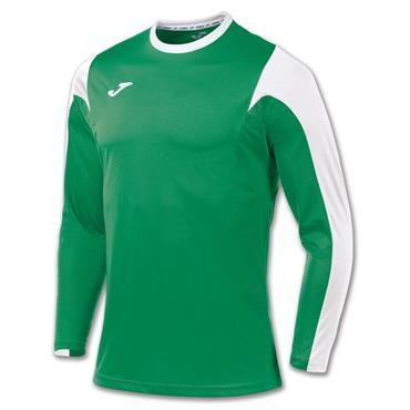 Joma Kids Estadio LS T-Shirt - Green/White