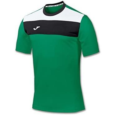 Joma Kids Crew T-Shirt - Green/White