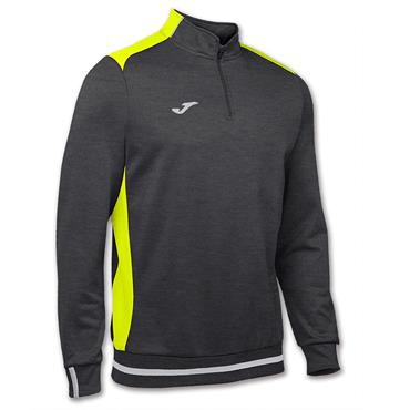 JOMA CAMPUS II 1/2 ZIP SWEATSHIRT - GREY/YELLOW