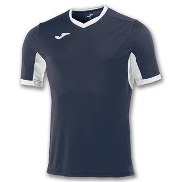 Joma Adults Champion IV T-Shirt - Navy/White