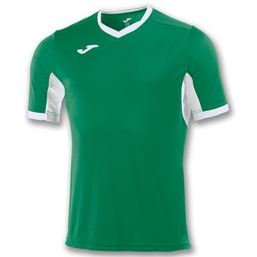 Joma Adults Champion IV T-Shirt - Green/White