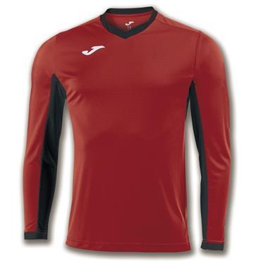 Joma Adults Champion IV LS T-Shirt - Red/Black