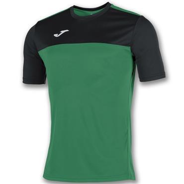 Joma Adults Winner T-Shirt - Green/Black