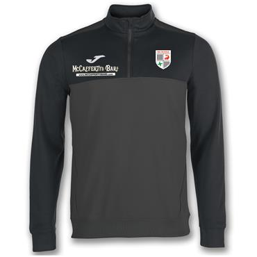 Joma Adults Na Rossa GAA Half Zip Sweater - Black