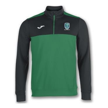 Joma Adults Ballyraine FC Half Zip - Green/Black