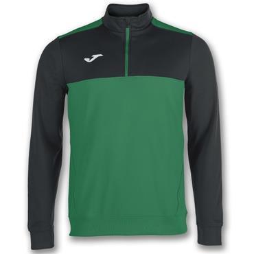 Joma Winner Half Zip Top - Green/Black
