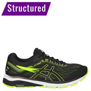 ASICS MENS GT 1000 7 - BLACK/GREEN