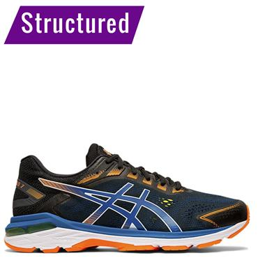 ASICS Mens GT 2000 7 Running Shoe - Black/Blue