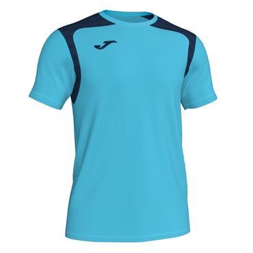 Joma Kids Champion V T-Shirt - Turquoise/Navy