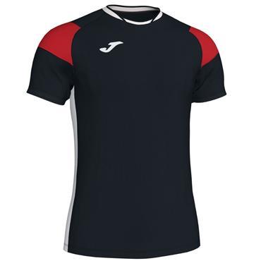 Joma Kids Crew III T-Shirt - Black/Red/White
