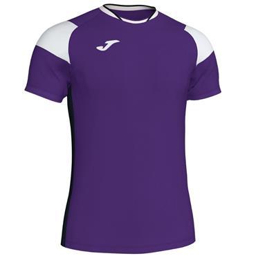 Joma Adults Crew III T-Shirt - Purple/White/Black