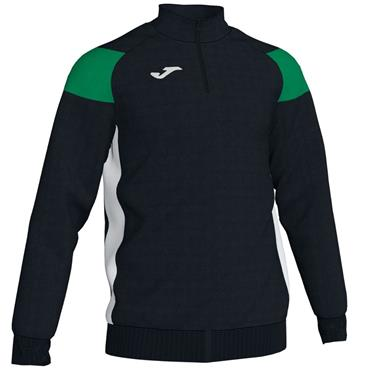 Joma Adults Crew III HZ Sweatshirt - Black/Green/White