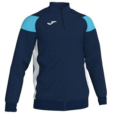 Joma Adults Crew III HZ Sweatshirt - Navy/Sky/Blue