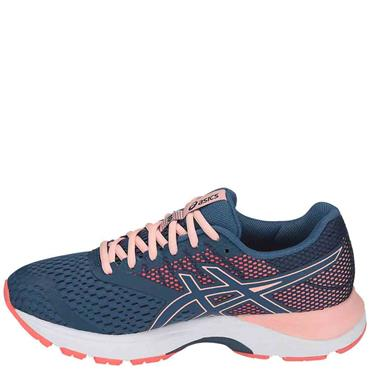 ASICS WOMENS GEL PULSE 10 - NAVY/CORAL