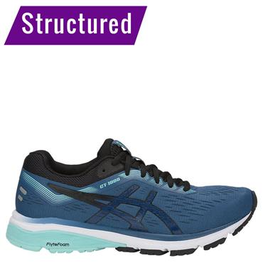 ASICS WOMENS GT 1000 7 - NAVY/BLUE