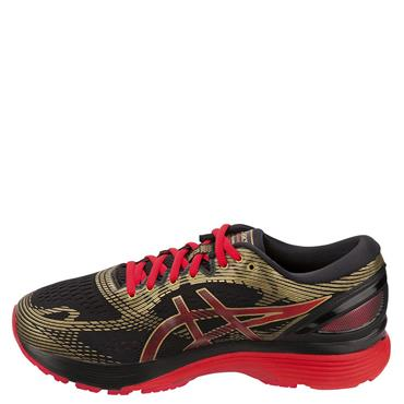 ASICS WOMENS GEL NIMBUS 21 - RED/BLACK